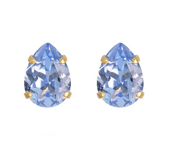 Mini Drop Stud örhängen light sapphire