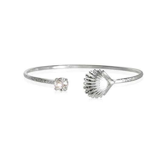Shell armband crystal rhodium