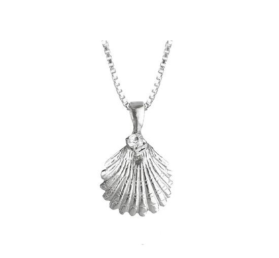Shell halsband crystal rhodium