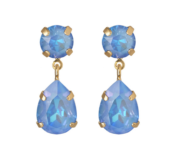 Mini Drop örhängen ocean blue delite