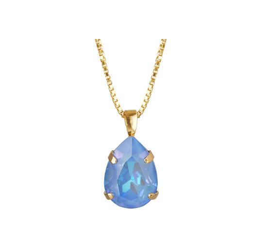 Mini Drop halsband ocean blue delite