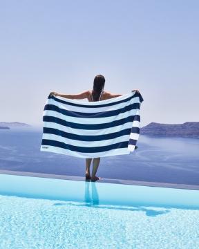 Santorini Stripe strandbadlakan 4