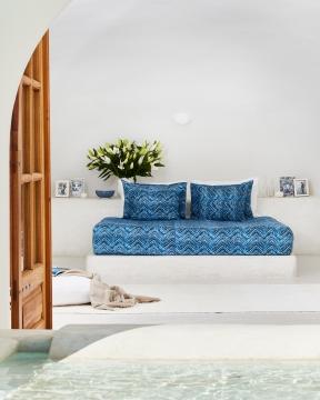Amalfi påslakanset blå/vit 1