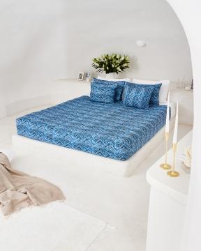 Amalfi påslakanset blå/vit 3