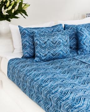 Amalfi påslakanset blå/vit 2