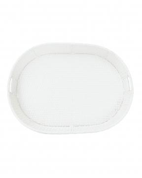 Flytande poolbricka vit oval 6