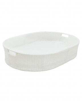 Flytande poolbricka vit oval 3