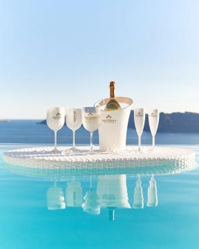 Champagnekylare vit 6