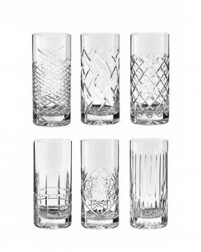 JFK highballglas kristall 6-pack 3