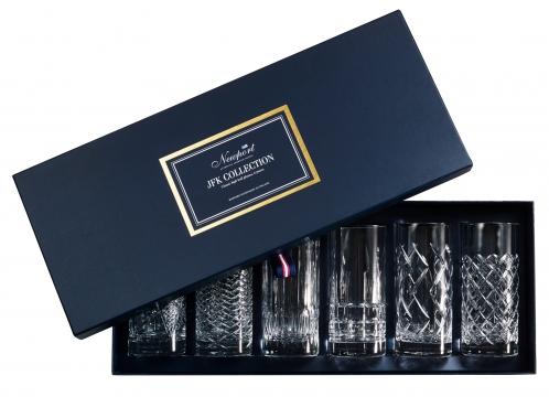 JFK highballglas kristall 6-pack 6