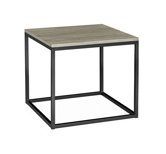 Mason sidobord antik grå kvadrat Artwood