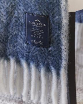 Savoie Herringbone pläd blå 4