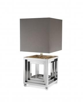 Bellagio bordslampa nickel 1