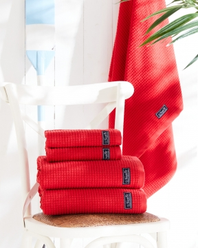 Fisher Island handdukar röd 1