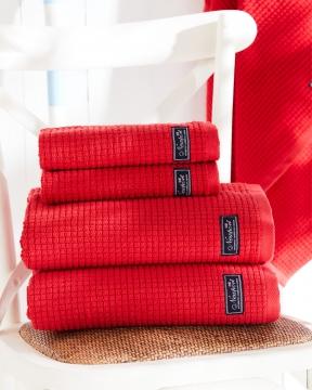 Fisher Island handdukar röd 4