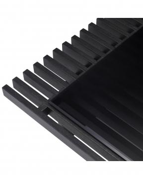 Crest soffbord kolgrå 4