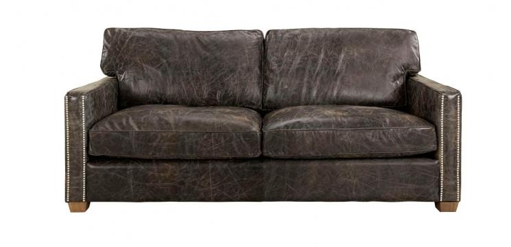 VISCOUNT Soffa Läder Fudge 1