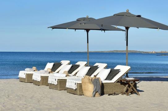 Portofino parasoll grå 2