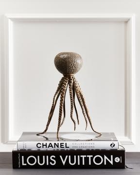 Coco bläckfiskljusstake brons 6