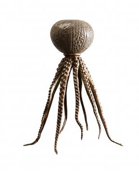 Coco bläckfiskljusstake brons 3