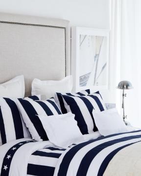Southampton Stripe örngott blå/vit 2-pack 1
