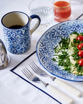 Portofino mugg blå/vit 2
