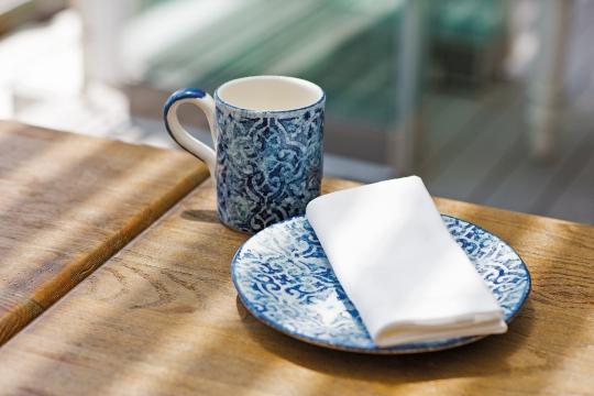 Portofino mugg blå/vit 5