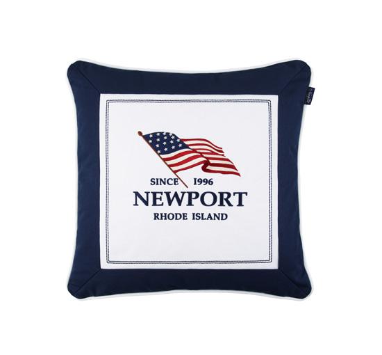 Seabrook flag pillow navy 1
