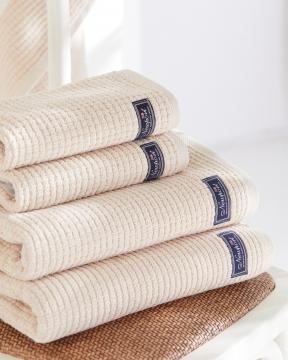 Fisher Island handdukar beige 4-pack 1