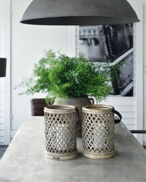 Bamboo lykta vintage 1