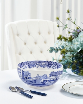 Blue Italian serveringsskål blå/vit 2