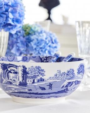 Blue Italian serveringsskål blå/vit 5