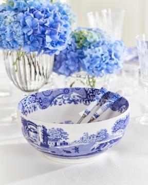 Blue Italian serveringsskål blå/vit 1