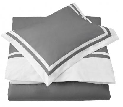 Belgravia påslakan grå/vit 1