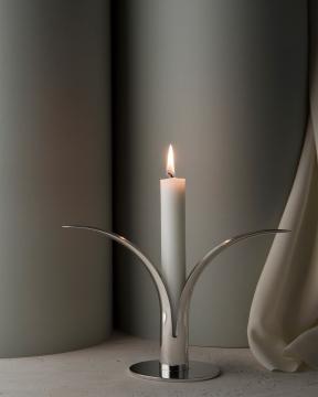 Liljan ljusstake silver 1