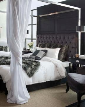 London sänggavel sammet iron grey 1