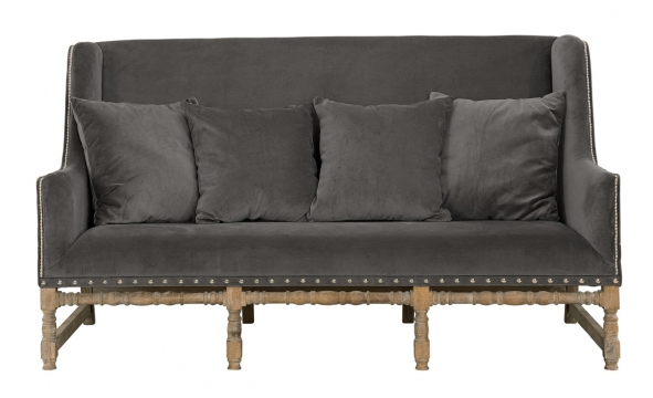 MAYFAIR Sofa Velvet iron grey 1