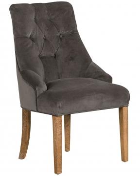 YORK Diningchair NEW Velvet Grey 1