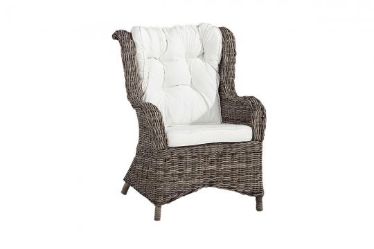 Wingchair kubu grå inkl dyna 1