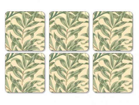 Willow Bough Green glasunderlägg 6-pack 1