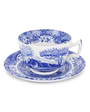 Blue Italian tekopp blå/vit 3