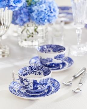 Blue Italian tekopp blå/vit 4