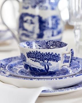Blue Italian tekopp blå/vit 6
