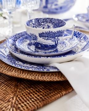 Blue Italian tekopp blå/vit 2