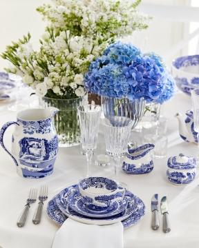 Blue Italian tekopp blå/vit 1