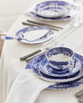 Blue Italian tekopp blå/vit 5