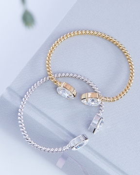 Mini Drop armband crystal guld 4