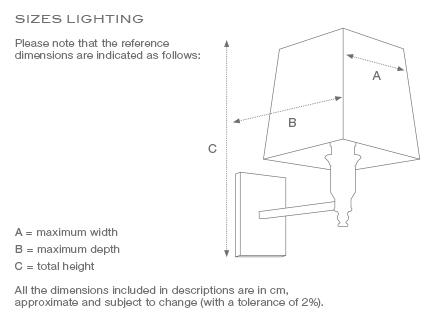 Vägglampa Gascogne Mässing S 4