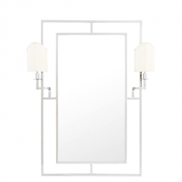 Mirror Astaire with Lamps nickel finish 1