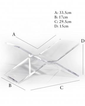 Bokstöd transparent 4